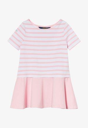 Žerzejové šaty - white/carmel pink
