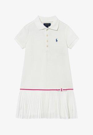 POLO DRESS - Denní šaty - white