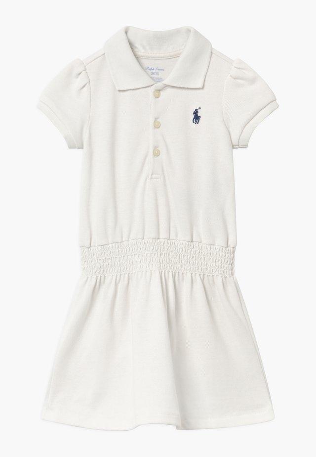 SMOCK - Korte jurk - deckwash white