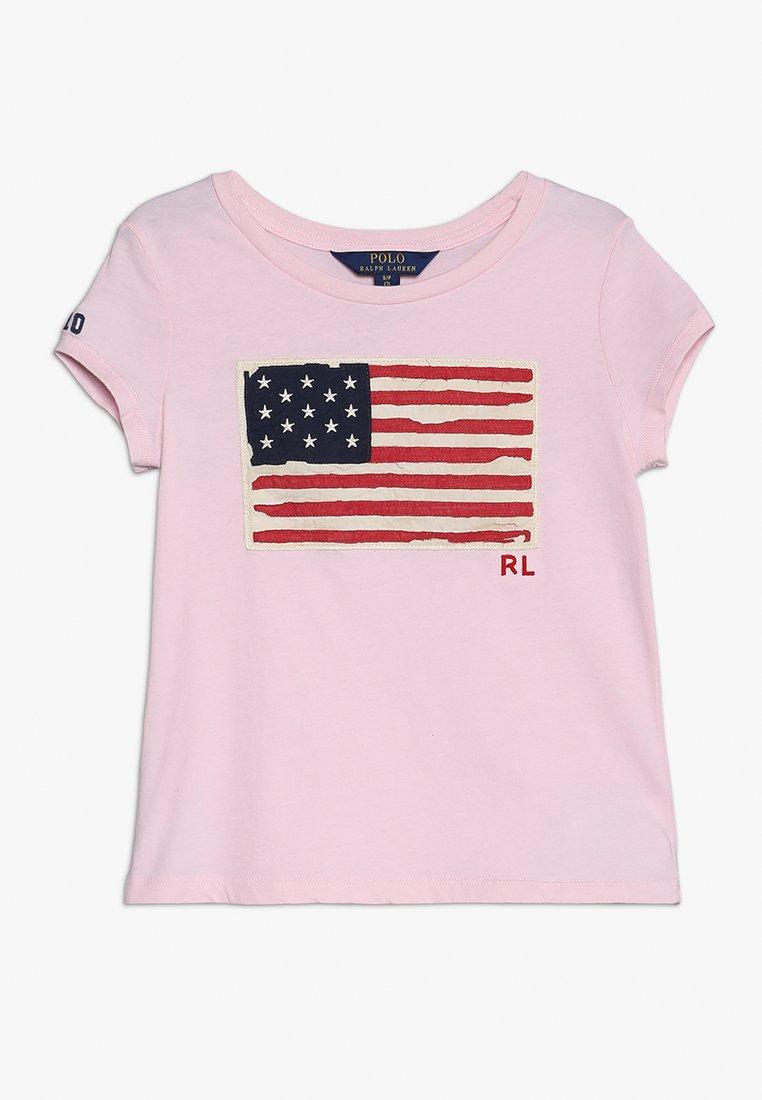 Polo Ralph Lauren - FLAG TEE - Print T-shirt - hint of pink