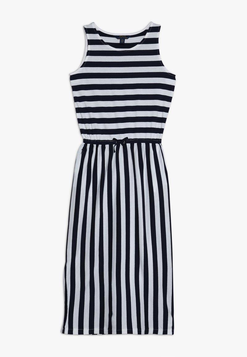 Polo Ralph Lauren - STRIPE MAXI - Maxi šaty - white/french navy