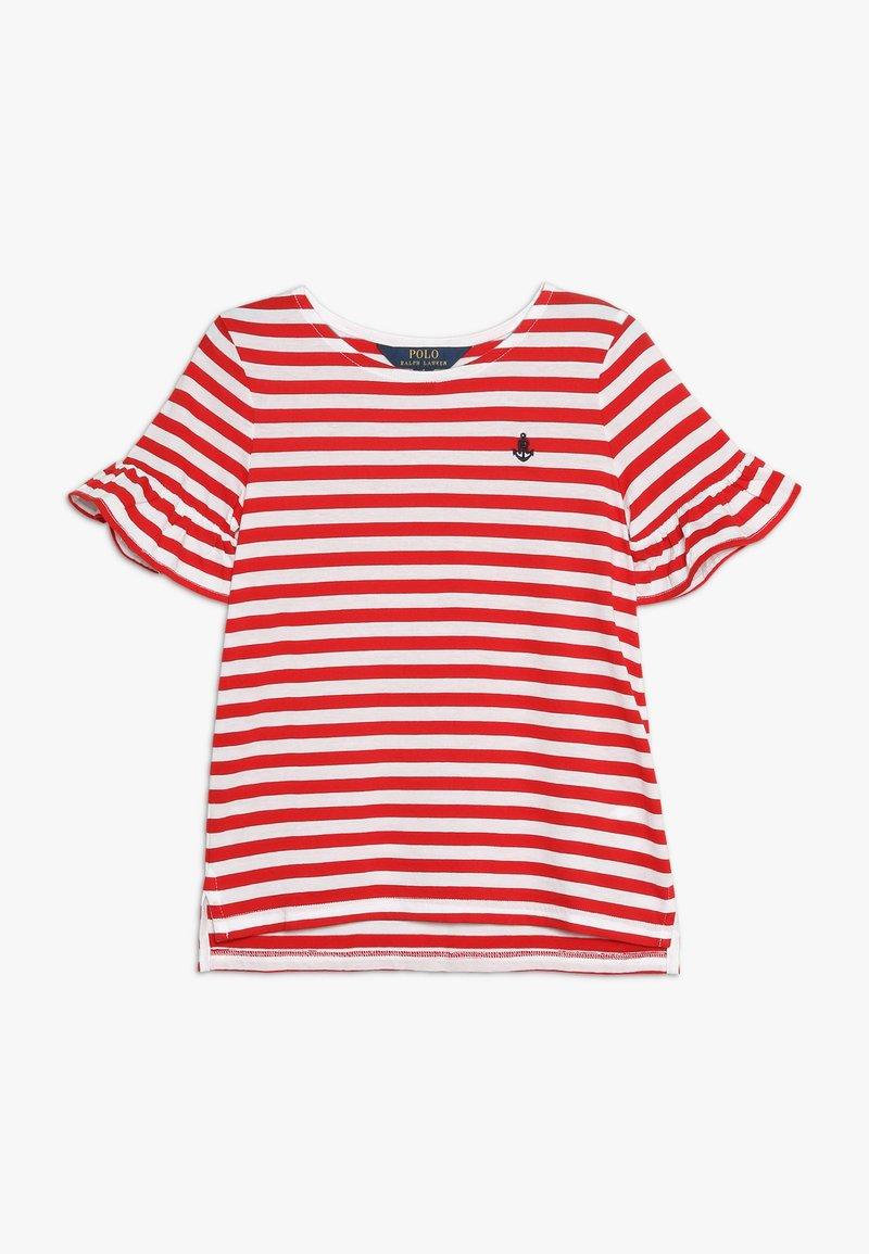 Polo Ralph Lauren - RUFFLE  - T-shirt med print - white/red