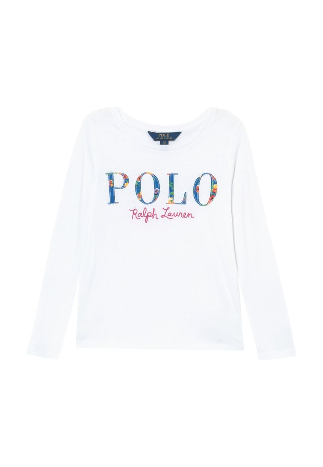 POLO TEE - Long sleeved top - white