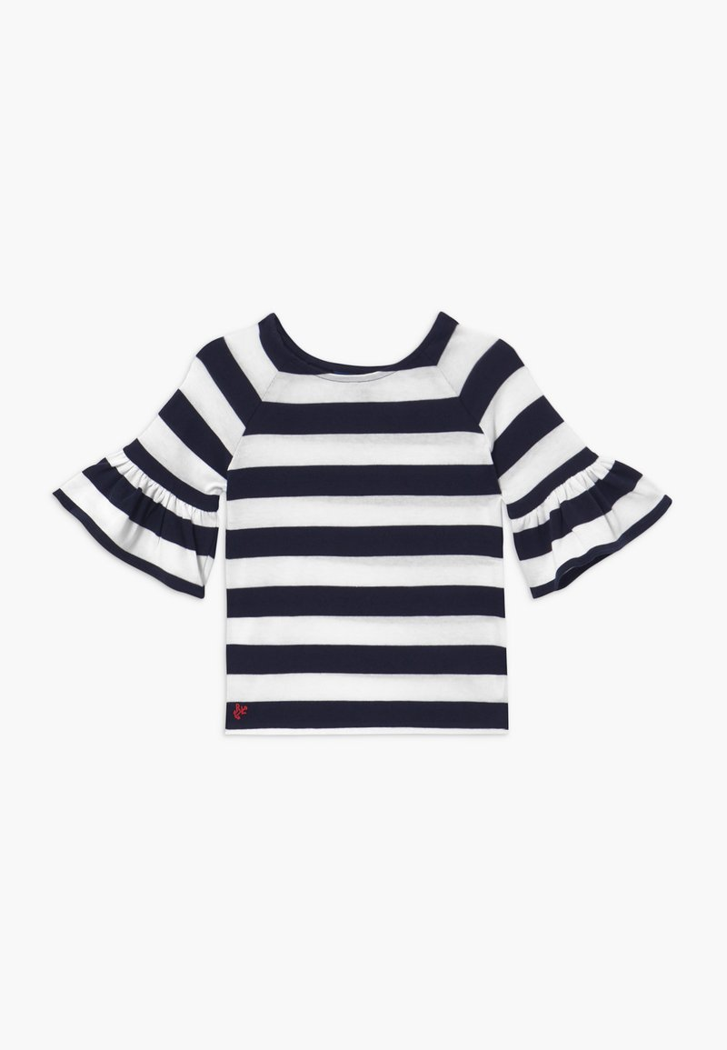 Polo Ralph Lauren - RUFFLE - Svetr - navy white stripe