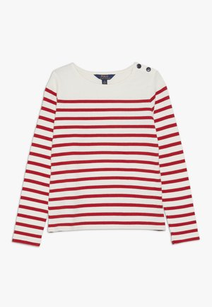 Langærmede T-shirts - clubhouse cream/red