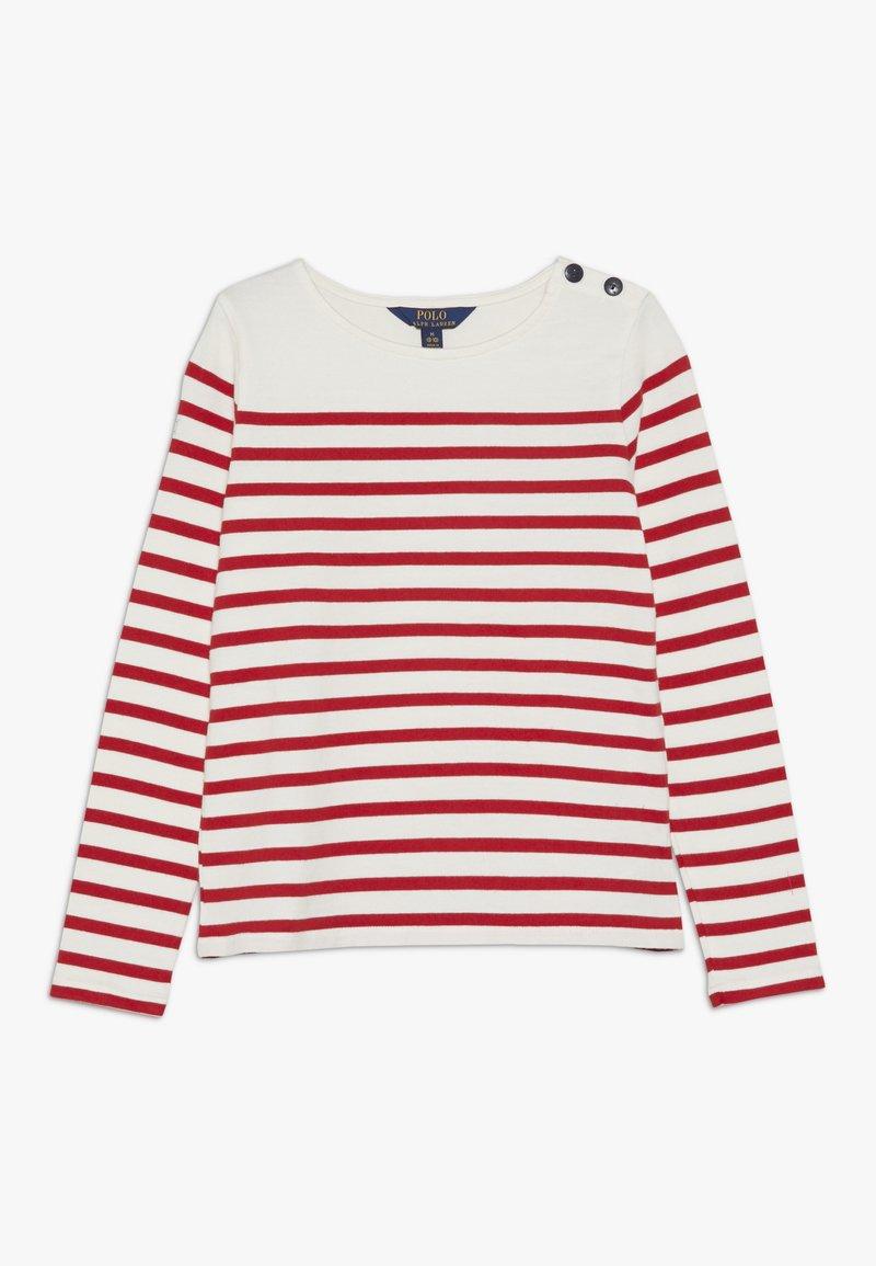 Polo Ralph Lauren - Top sdlouhým rukávem - clubhouse cream/red