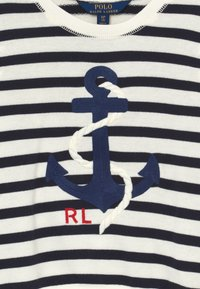 Polo Ralph Lauren - STRIPE TERRY - Mikina - clubhouse cream/hunter navy - 3