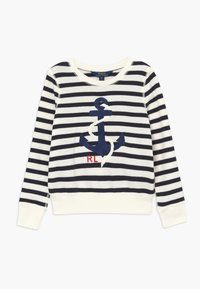 Polo Ralph Lauren - STRIPE TERRY - Mikina - clubhouse cream/hunter navy - 0