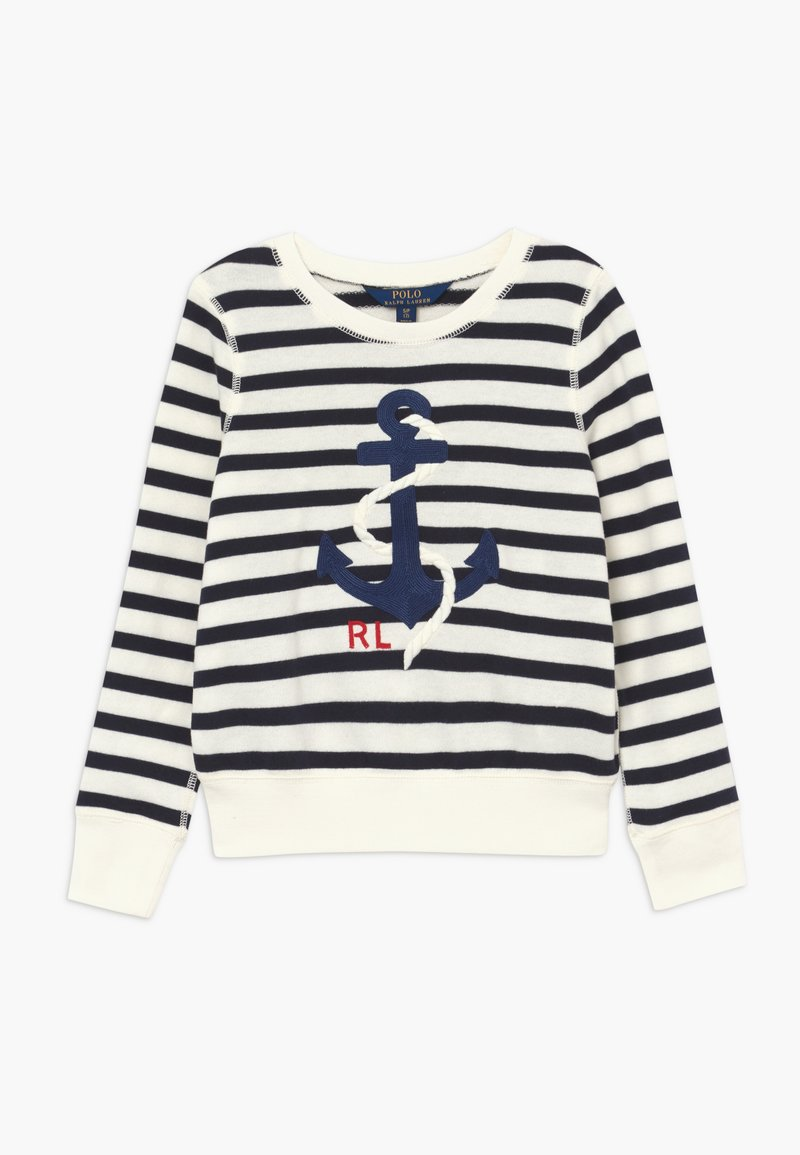 Polo Ralph Lauren - STRIPE TERRY - Mikina - clubhouse cream/hunter navy