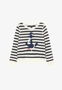 Polo Ralph Lauren - STRIPE TERRY - Mikina - clubhouse cream/hunter navy - 2