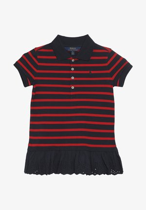 STRIPE - Polotričko - hunter navy/red