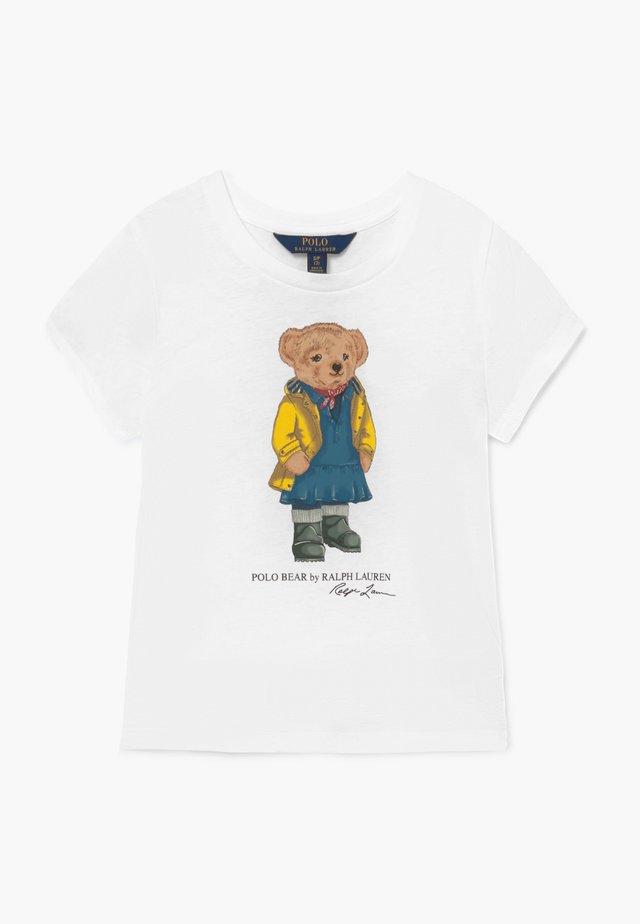 BEAR TEE - Camiseta estampada - white