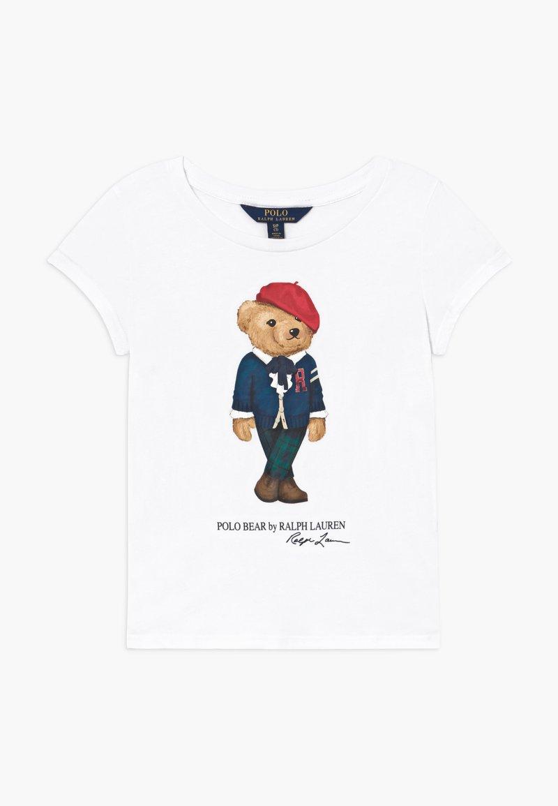 Polo Ralph Lauren - BEAR - T-shirt con stampa - white