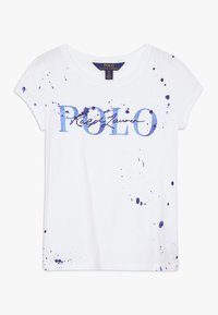Polo Ralph Lauren - PAINT TEE - T-shirt con stampa - white - 0