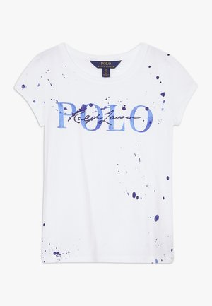 PAINT TEE - T-shirts med print - white
