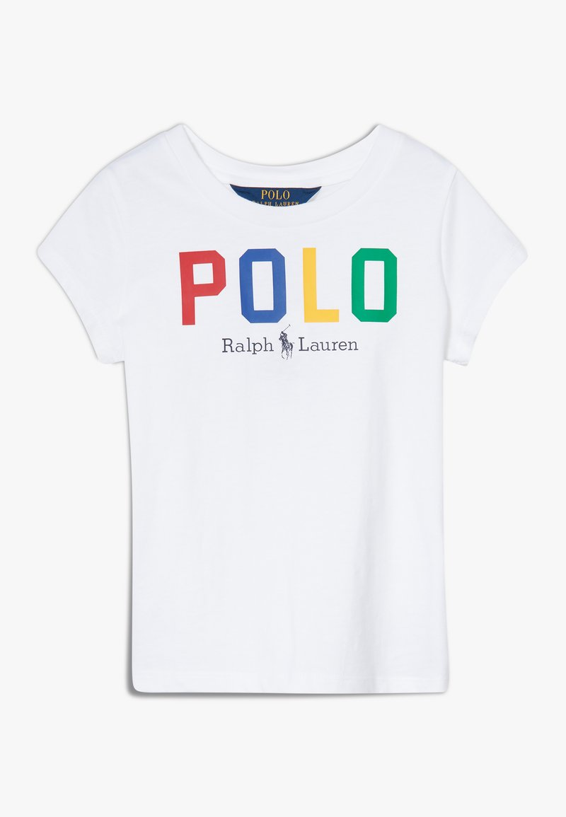 Polo Ralph Lauren - GRAPHIC - Triko s potiskem - pure white multi