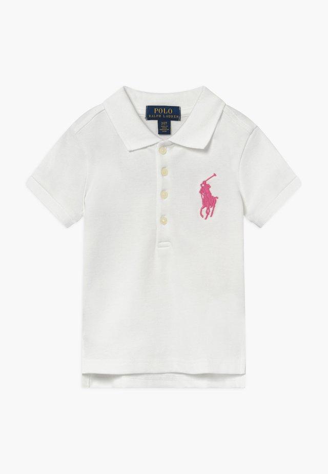 BIG  - Polo shirt - white/baja pink