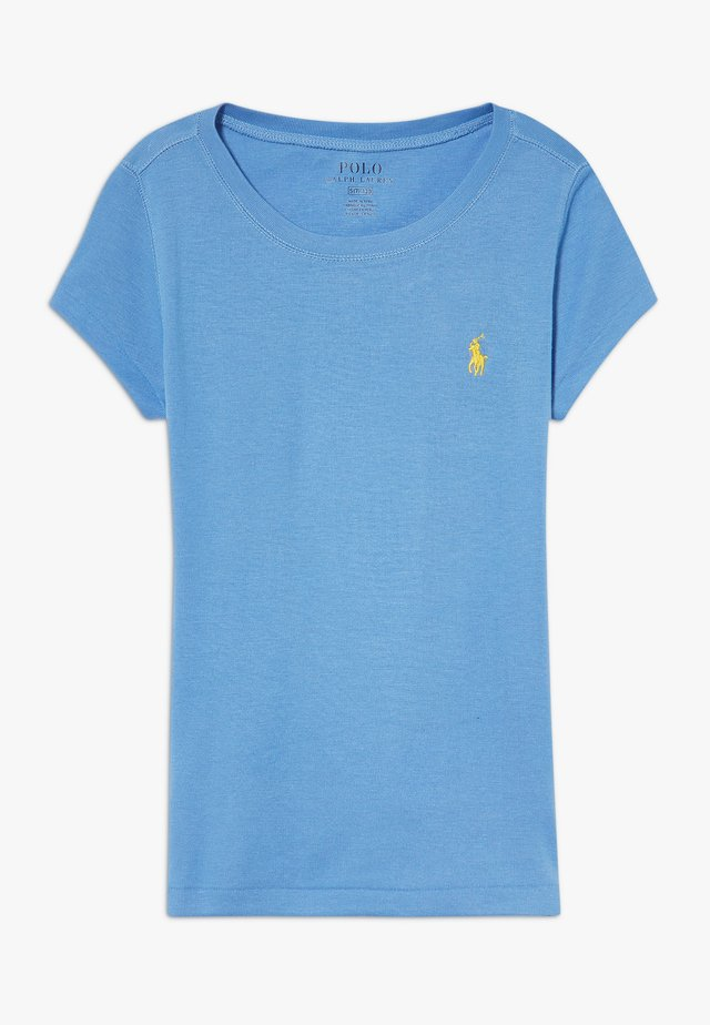 TEE - Basic T-shirt - harbor island blue/signal yellow