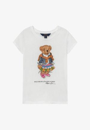 BEAR TEE - T-shirt imprimé - white