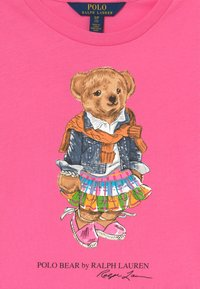 Polo Ralph Lauren - BEAR TEE - T-shirt z nadrukiem - baja pink - 3