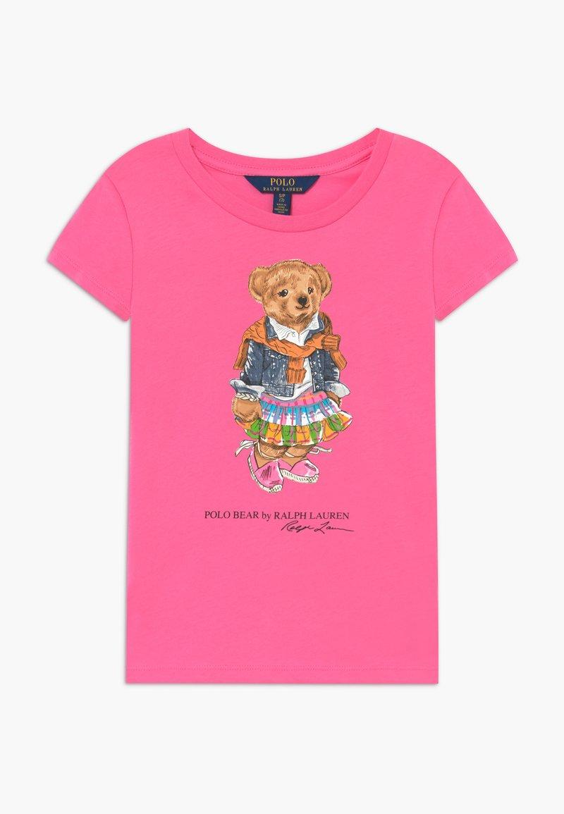 Polo Ralph Lauren - BEAR TEE - T-shirt z nadrukiem - baja pink