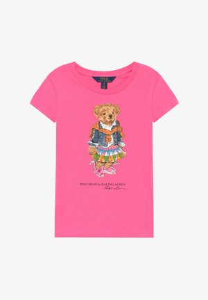 BEAR TEE - Triko spotiskem - baja pink