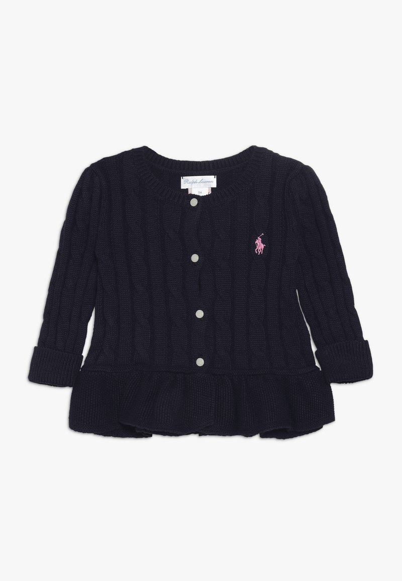 Polo Ralph Lauren - PEPLUM CARDI BABY - Cardigan - navy