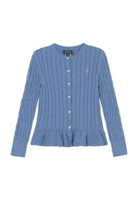 Polo Ralph Lauren - PEPLUM - Kardigan - soft royal heather - 0