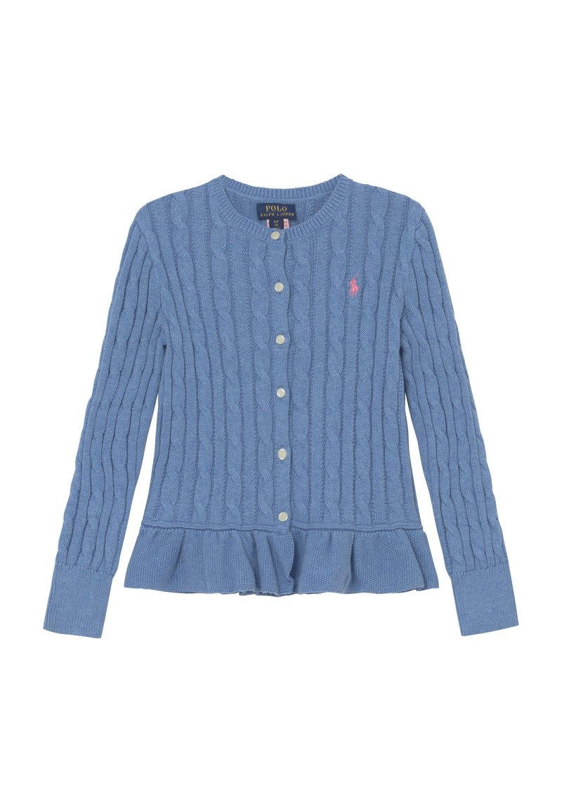 Polo Ralph Lauren - PEPLUM - Kardigan - soft royal heather
