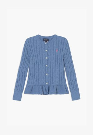 PEPLUM - Cardigan - soft royal heather