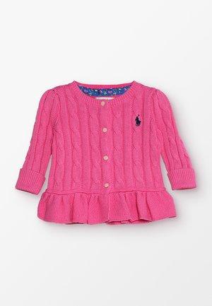 PEPLUM - Kardigan - baja pink
