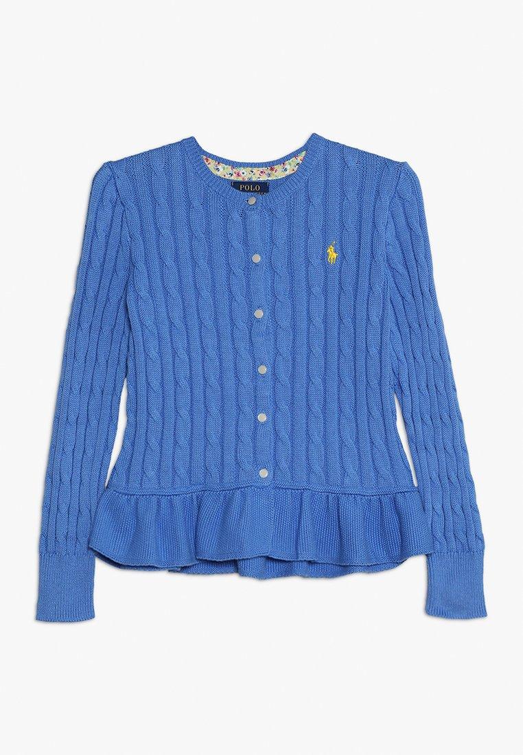 Polo Ralph Lauren - PEPLUM CARDI - Strickjacke - harbor island blue
