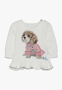 Polo Ralph Lauren - PEPLUM DOG - Stickad tröja - trophy cream - 0