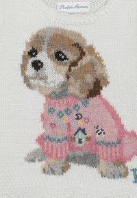 Polo Ralph Lauren - PEPLUM DOG - Stickad tröja - trophy cream - 2