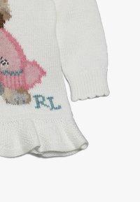 Polo Ralph Lauren - PEPLUM DOG - Stickad tröja - trophy cream - 4