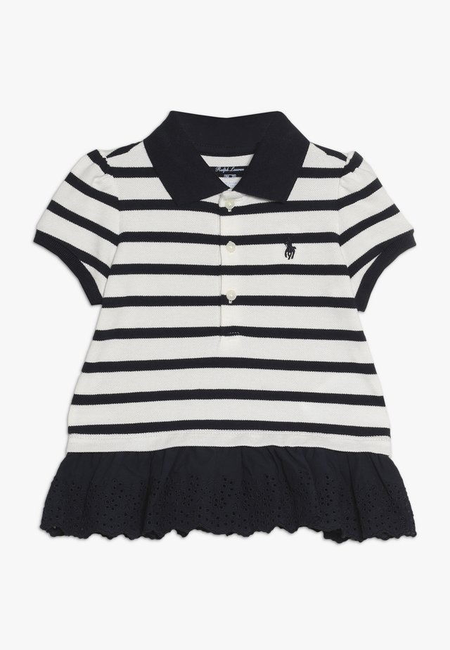 STRIPE  - Polo shirt - hunter navy/nevis