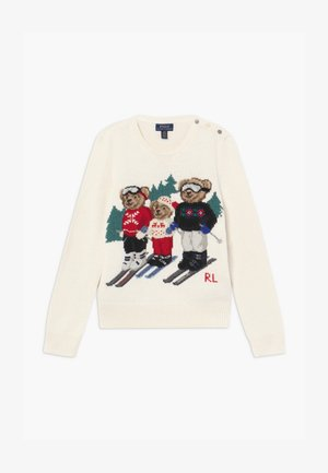 BEAR FAMILY SWEATER - Trui - clubhouse cream