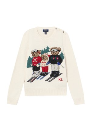 BEAR FAMILY SWEATER - Strickpullover - clubhouse cream