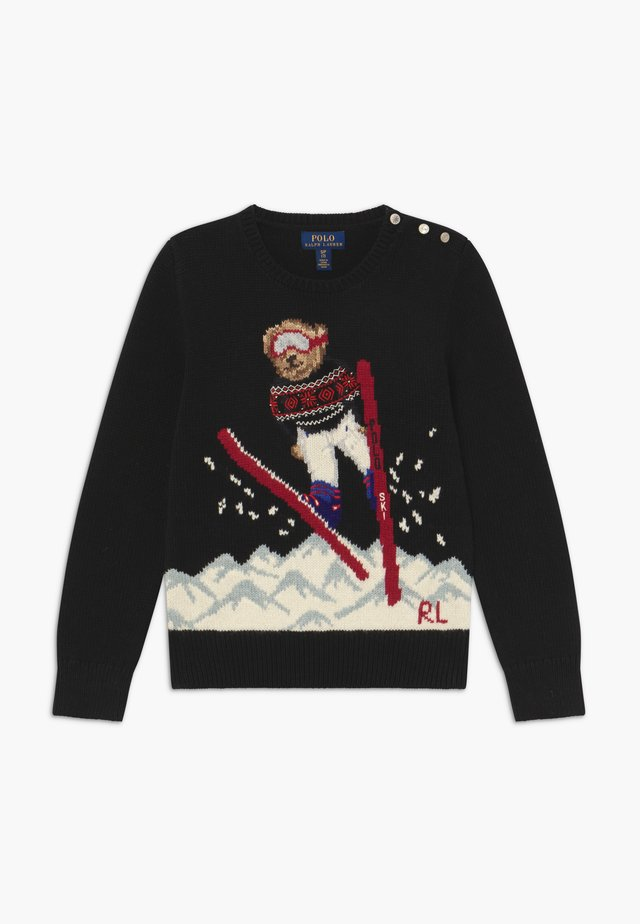 SKI JUMP  - Strikkegenser - polo black