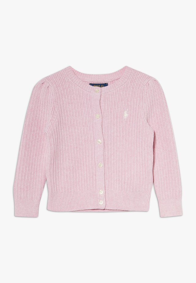 PREPPY CARDI - Neuletakki - carmel pink heather