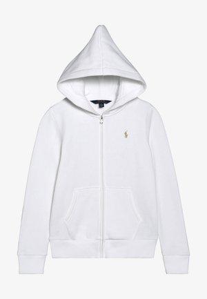 HOOD  - veste en sweat zippée - white