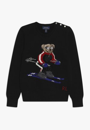 SKI BEAR - Strickpullover - black