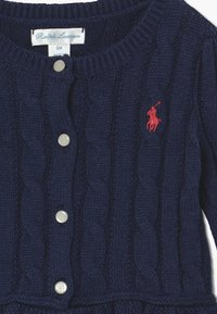 Polo Ralph Lauren - PEPLUM CARDI - Cardigan - spring navy heather - 3