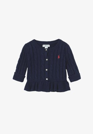 PEPLUM CARDI - Cardigan - spring navy heather