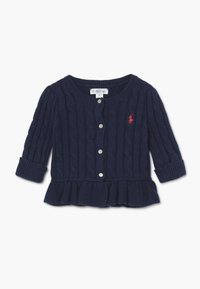 Polo Ralph Lauren - PEPLUM CARDI - Cardigan - spring navy heather - 0