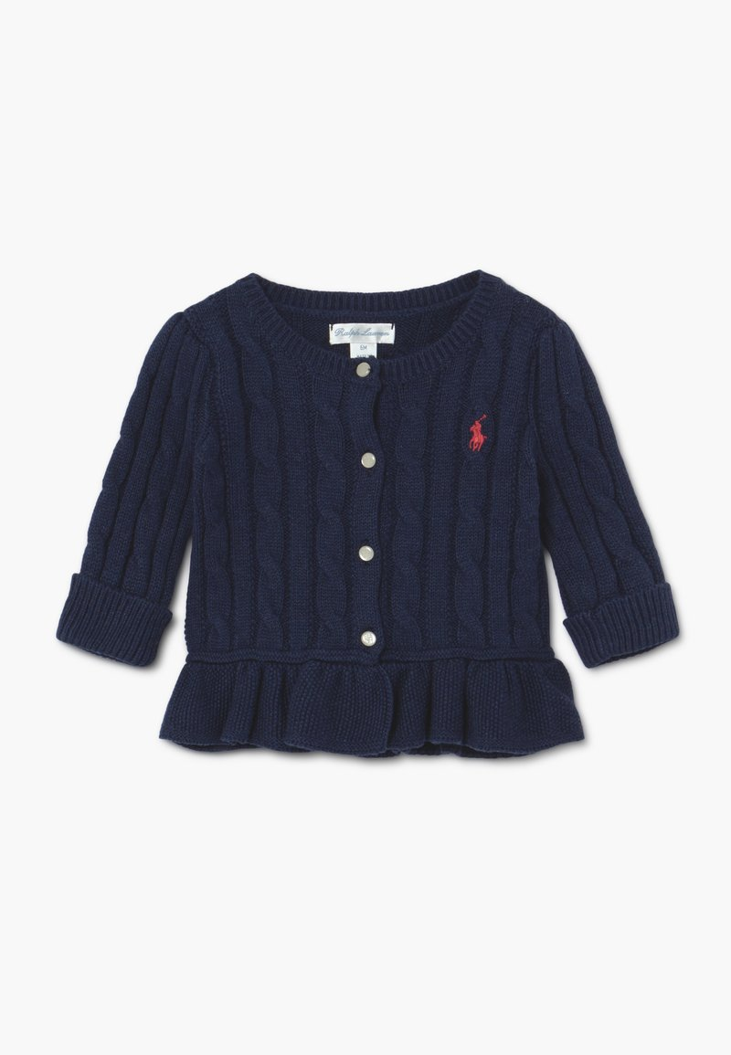 Polo Ralph Lauren - PEPLUM CARDI - Cardigan - spring navy heather