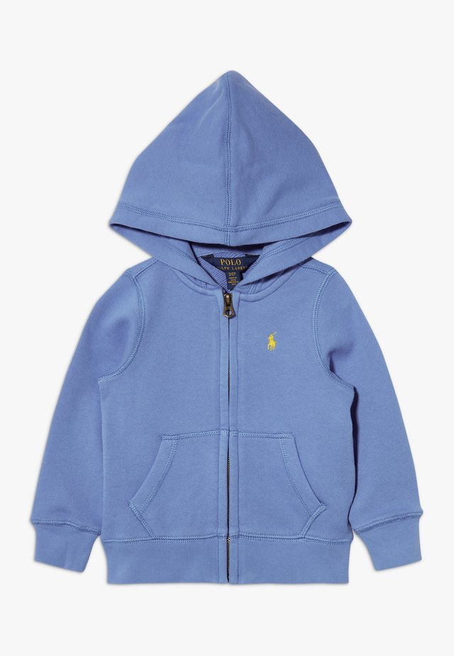 HOODIE - Sweatjacke - harbor island blue/signal yellow