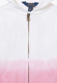 Polo Ralph Lauren - DIP DYE - Mikina na zip - white - 4