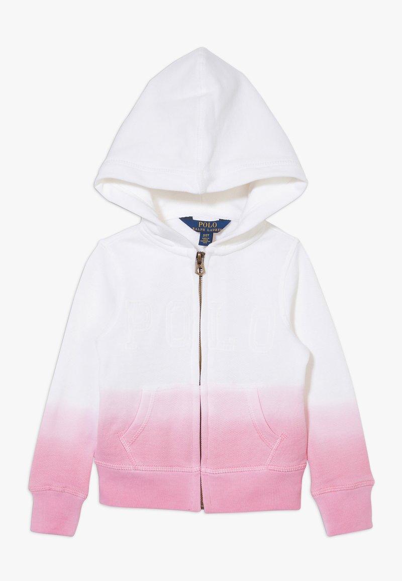 Polo Ralph Lauren - DIP DYE - Mikina na zip - white