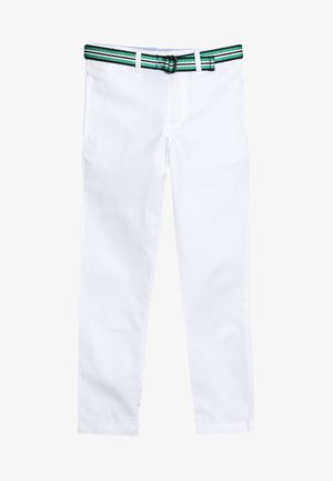 TISSUE BELTED PANT - Chinos - white